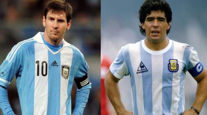 De amor y pasión por Messi y Maradona