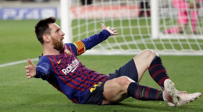 Un Messi brillante pone al Barsa a un paso de la final de la Champions